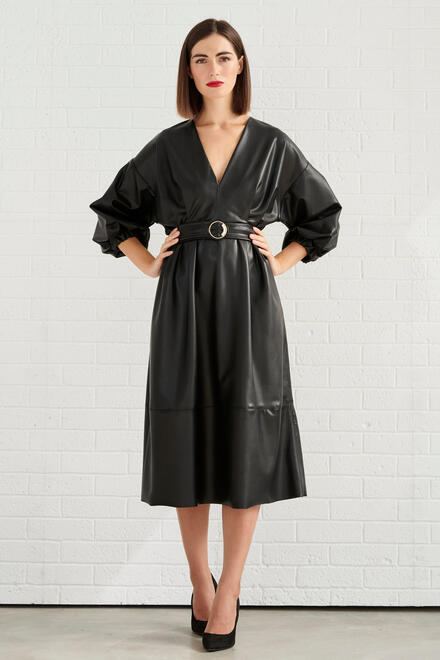 Eco Leather Dress - Black M