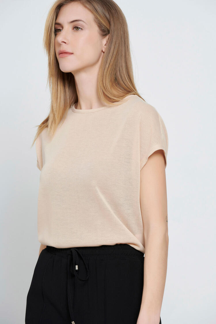 Knitted blouse - Beige S