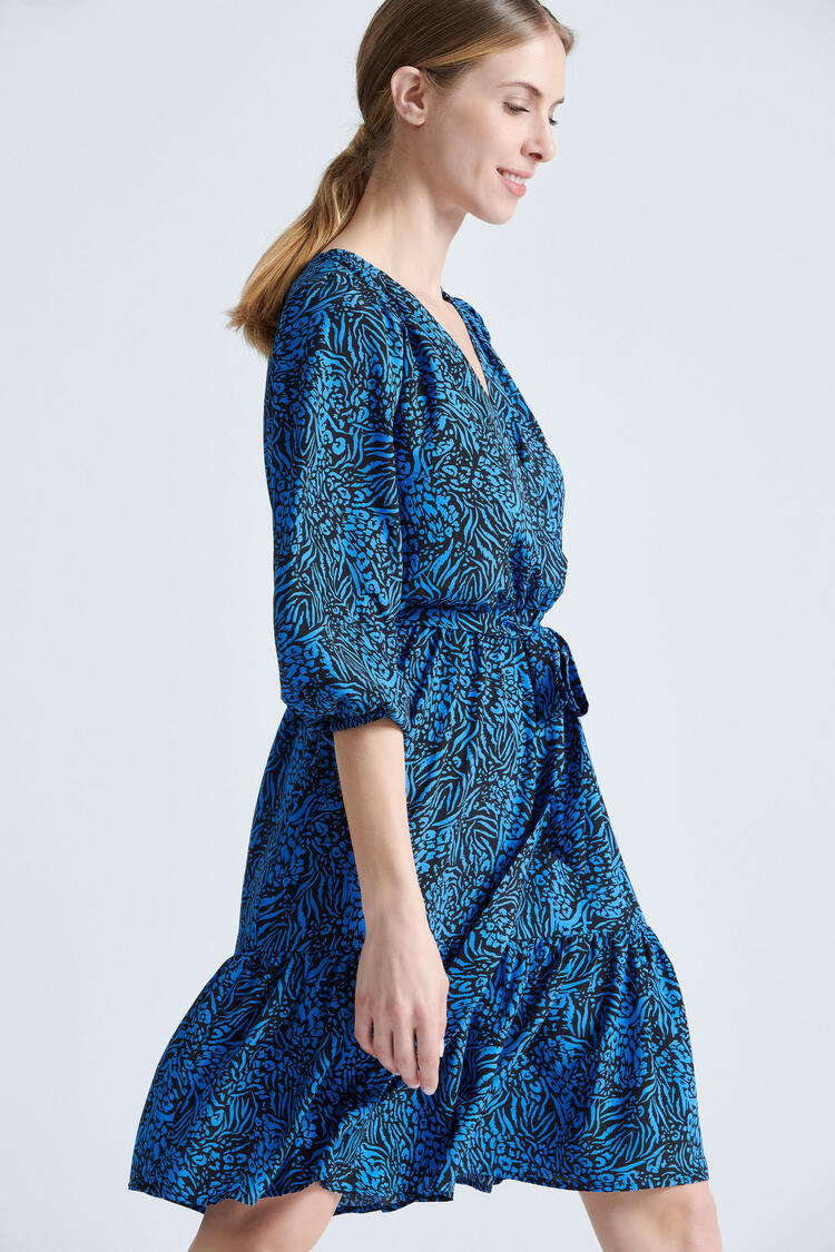 Printed dress - Electric Blue S