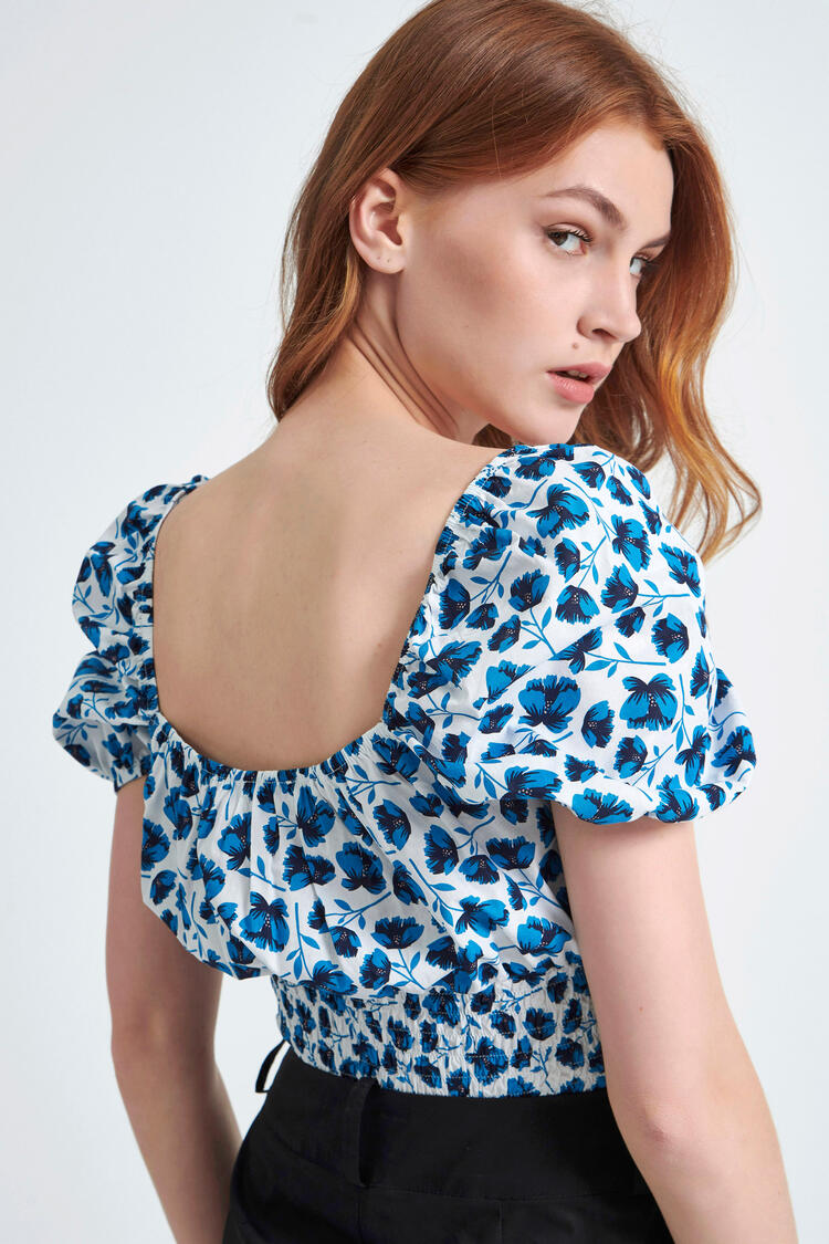 Printed blouse - Blue S
