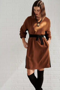 Two tone Dress - Brown S