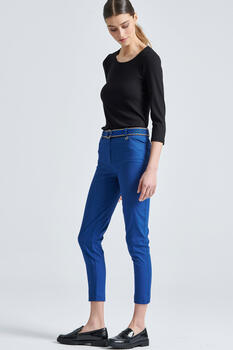 Straight ankle pants - LIGHT BLUE M