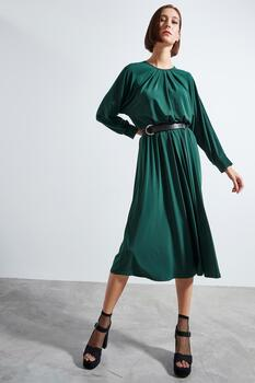 Raglan Dress - GREEN S