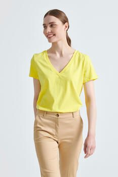 Organic cotton blouse - YELLOW S