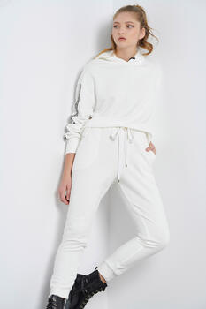 Jogging trousers - WHITE M