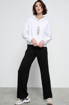 Pants with elastic - Black S